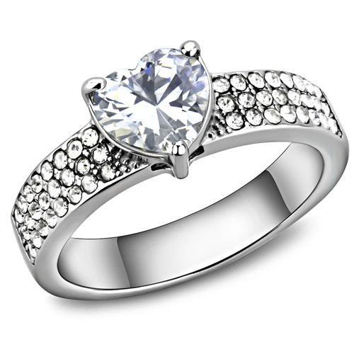 A Perfect 1.7CT Heart Cut Russian Lab Diamond Anniversary Ring