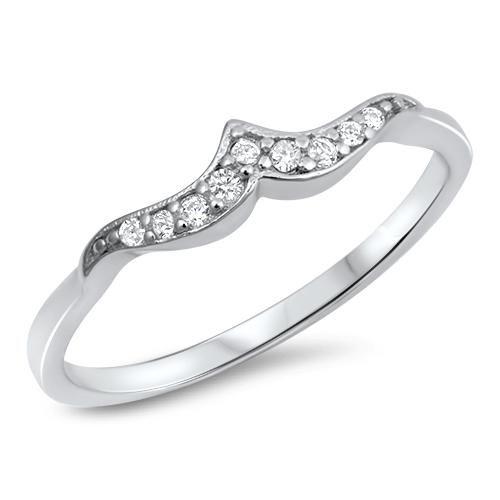 A Perfect .6TCW Russian Lab Diamond Mini Wave Wedding Band Ring