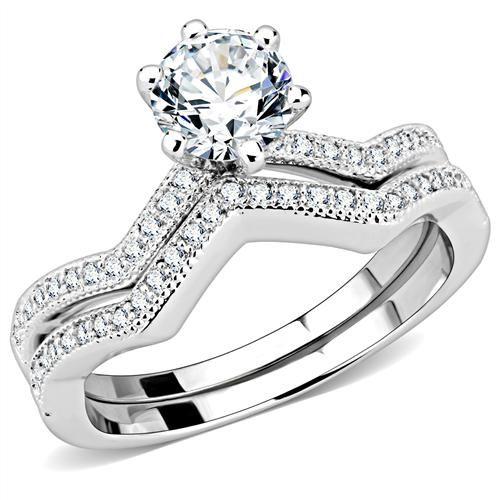 CT Heart Cut Solitaire Russian Lab Diamond Bridal Set Rings