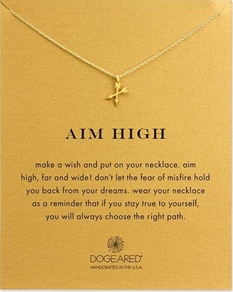 Aim High Crossing Arrows Necklace. Perfect gifts for her. Christmas gift ideas f...