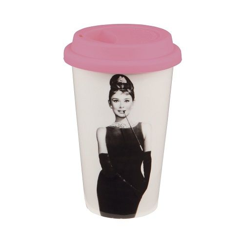 Audrey Hepburn Breakfast at Tiffanys Travel Mug. Cute Stocking Stuffers for Teen...