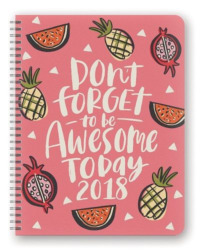 Be Awesome Today 2018 Planner. School supplies for high school (Christmas gifts ...