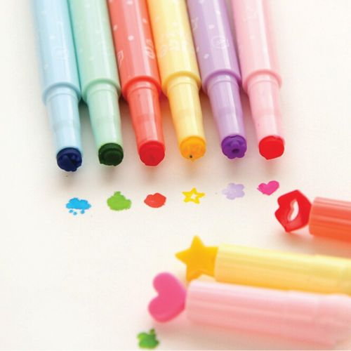 Cute Candy Color Highlighter Pen Set (Stocking Stuffers for Teens)