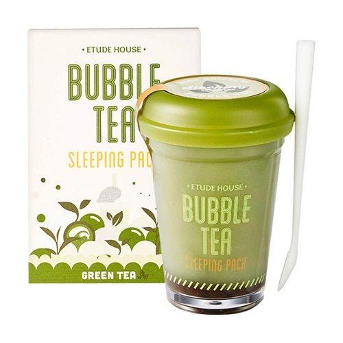 Etude House Bubble Tea Sleeping Pack. Green tea flavor. Beauty Gifts For Teens. ...