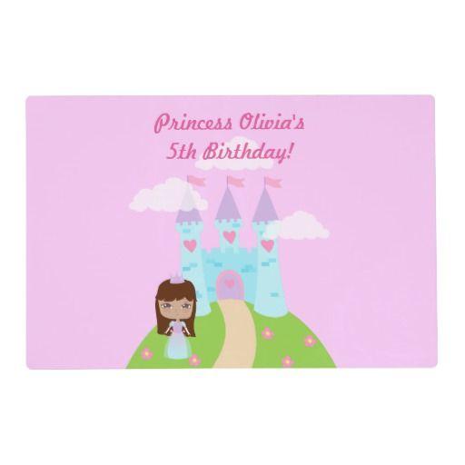 Cute Princess Birthday Placemat