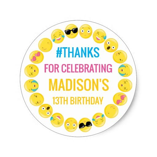Birthday Gifts Ideas Emoji Personalized Stickers Favor