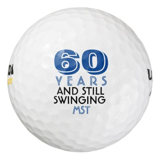 Birthday Gifts Ideas Funny Golf Balls 60th Party