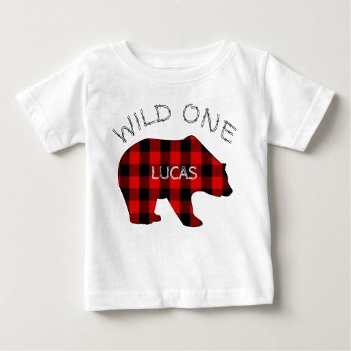 486cef771 Birthday Gifts Ideas : Wild One 1st Birthday Bear Lumberjack Plaid ...