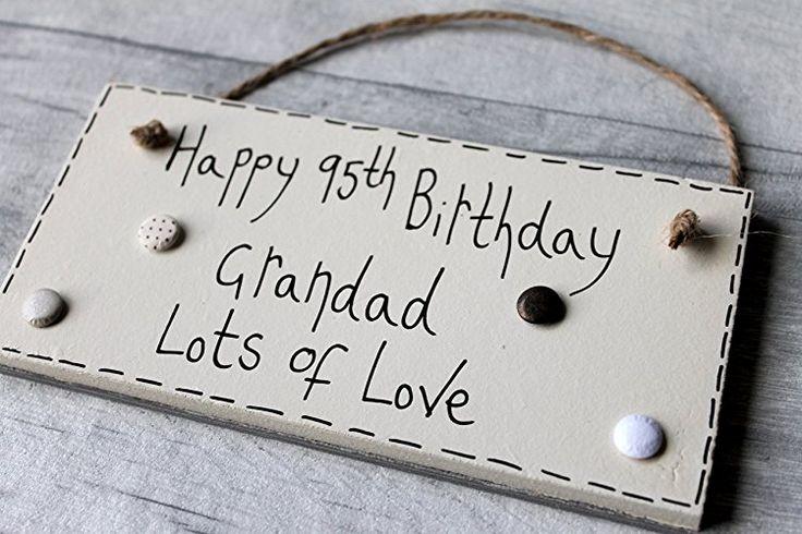 MadeAt94 95th Birthday Gifts Plaque Grandad Handmade Wooden Grandparents birthda...