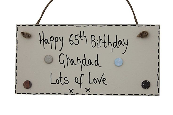 MadeAt94 Customized Wooden Grandad 65th Birthday Plaque Gift 50th 55th 60th 70th...