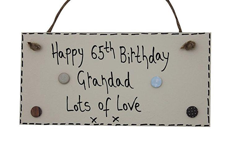 MadeAt94 Handmade 65th Birthday Grandad Plaque Gift Retirement Plaque Sign 70th ...