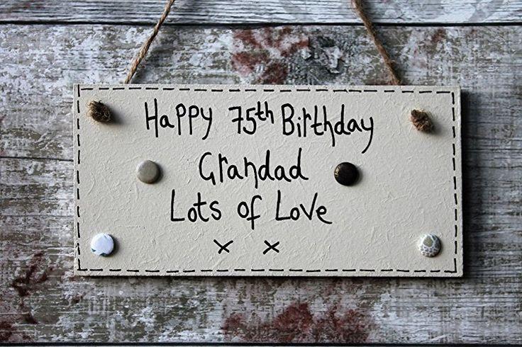 Birthday Gifts MadeAt94 Handmade Happy 75th Grandad
