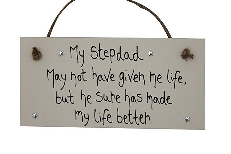 MadeAt94 Step Dad Gifts Personalized Wooden Plaque Sign 'My Stepdad has made...