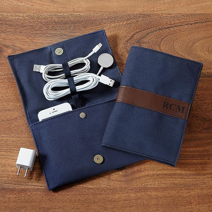 Canvas & Leather Travel Cord Case