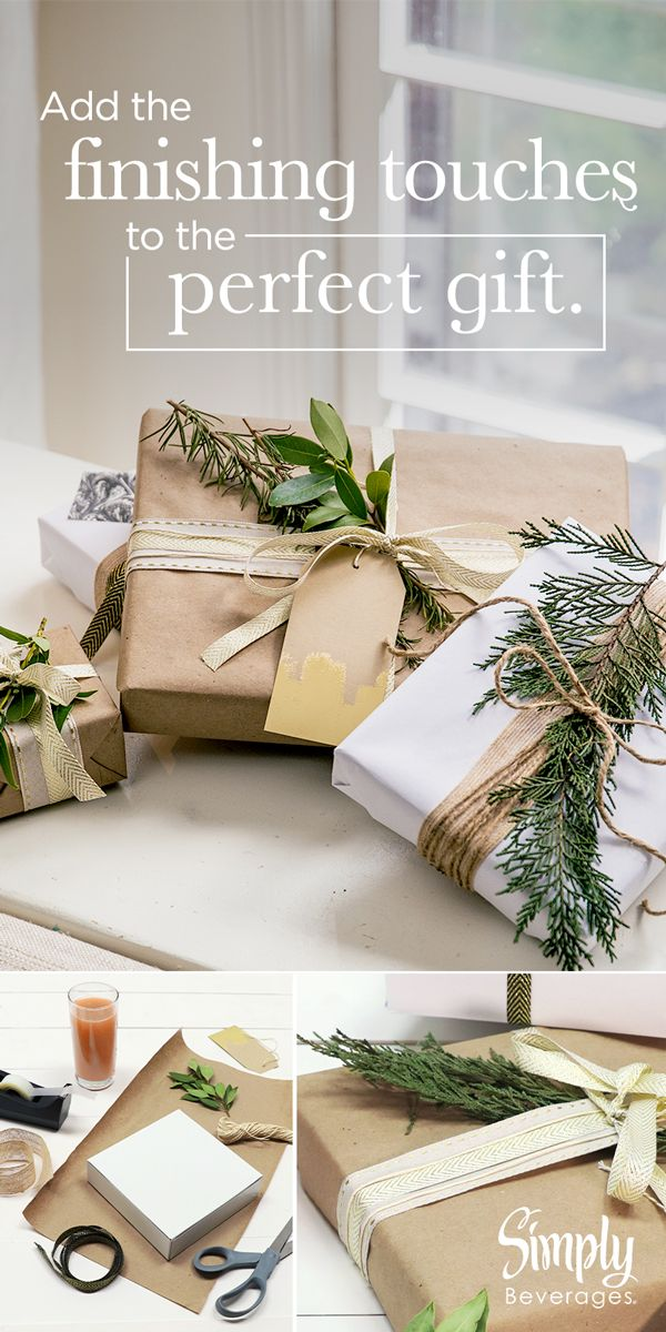 Adding a sprig of evergreen to your gift wrapping is the perfect way to include ...