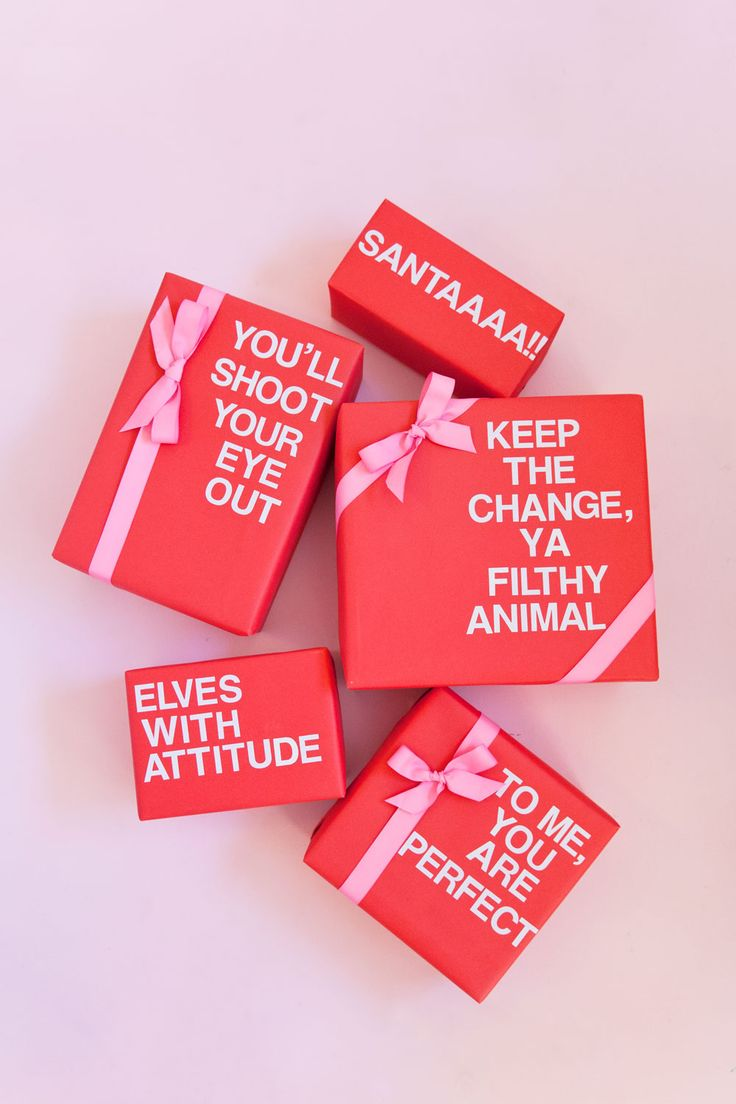CHRISTMAS MOVIE QUOTE WRAPPING DIY - Tell Love and Party