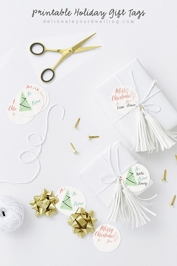 Free Printable Holiday and Christmas Gift Tags, Delineate Your Dwelling