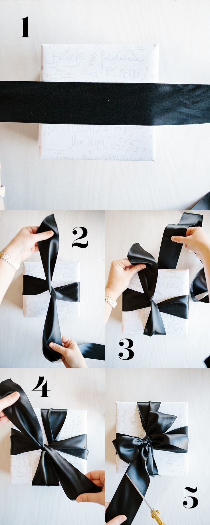 Gift wrap hacks - Learn How to Tie a Tiffany Bow by Handmade Mood and other grea...