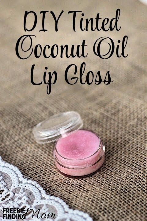 DIY Tinted Coconut Oil Lip Gloss - Moisturize your lips with this all natural DI...