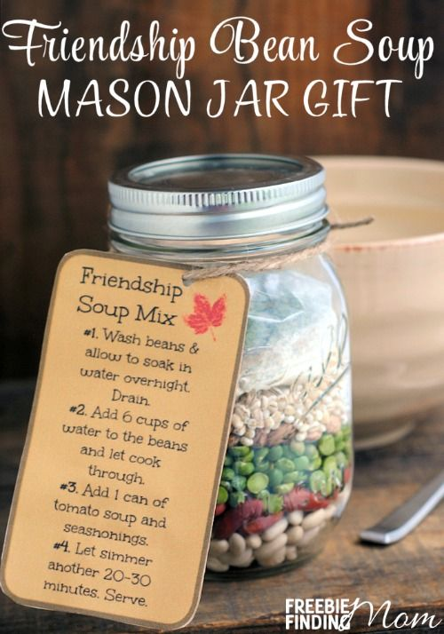 Friendship Bean Soup Mason Jar Gift - There is no need to be a Martha Stewart or...