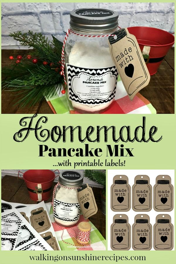 An easy recipe for Homemade Pancake Mix that you can use as gifts this holiday s...