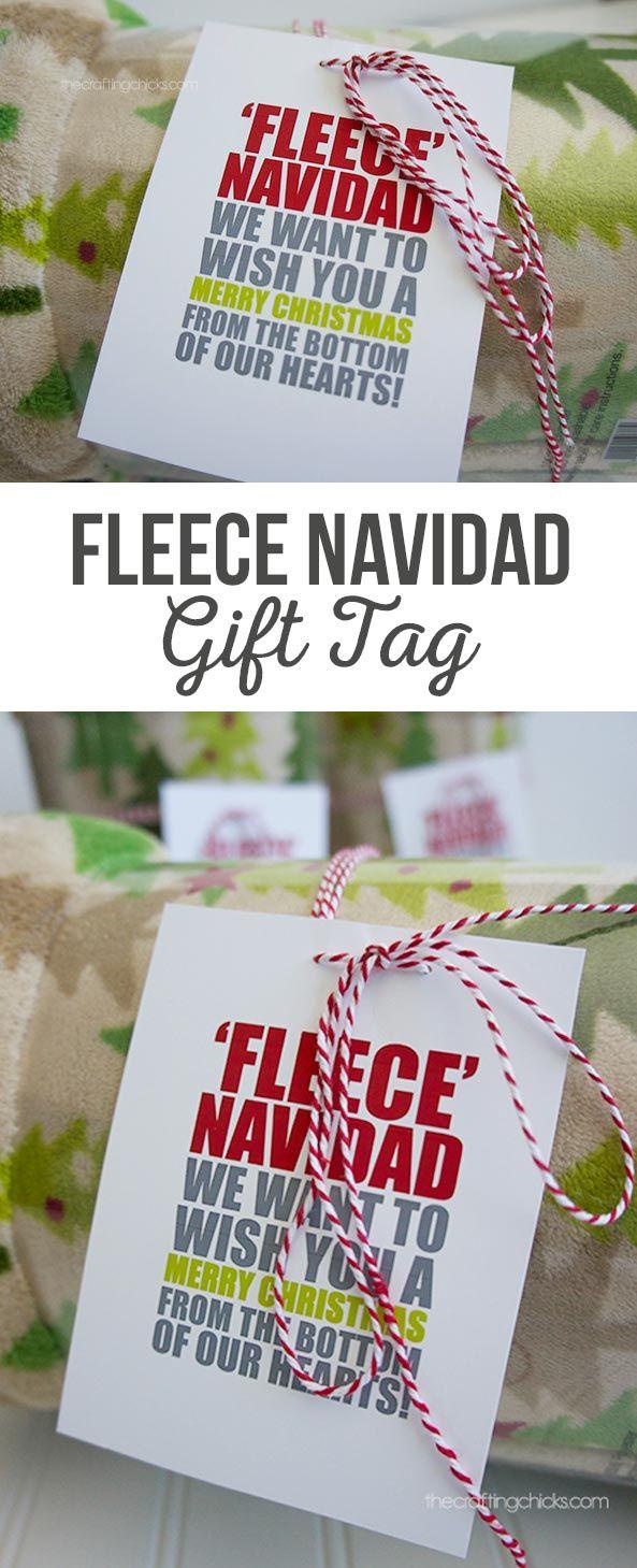 Fleece Navidad Blanket Tag   This tag is a fun play on the Feliz,