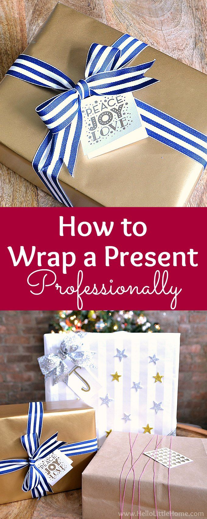 Diy Gifts Ideas How To Wrap A Present Professionally