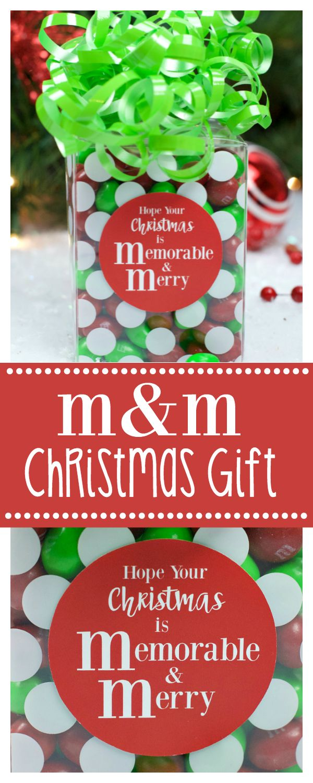 M&M Chocolate Christmas Gift Idea