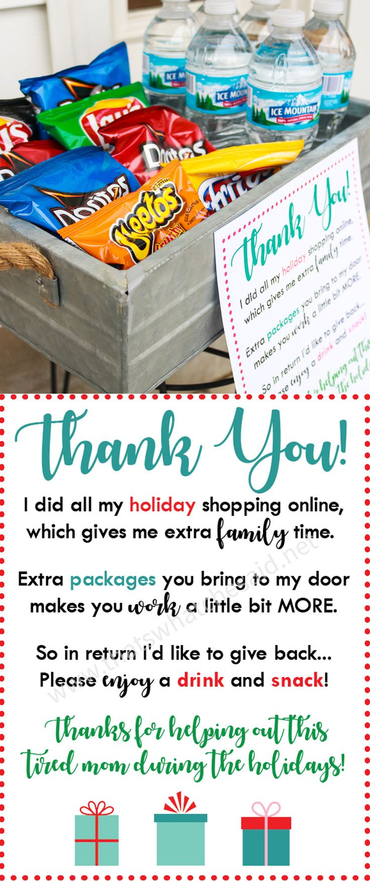 DIY Gifts Ideas : Say thank you to all the amazing delivery drivers ...