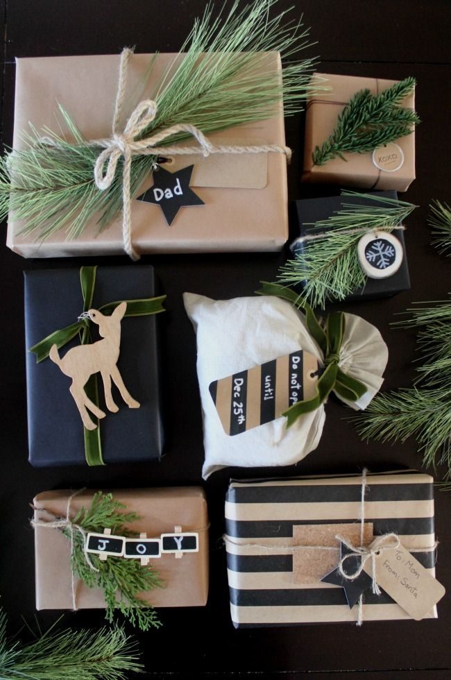 DIY Gifts Ideas : The perfect rustic gift wrapping ideas. I love