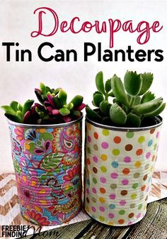 Need cheap and easy spring decorating ideas? Before you toss those empty cans of...