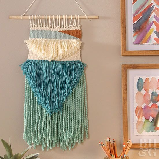This woven wall hanging is guaranteed to make a textural statement in your entry...