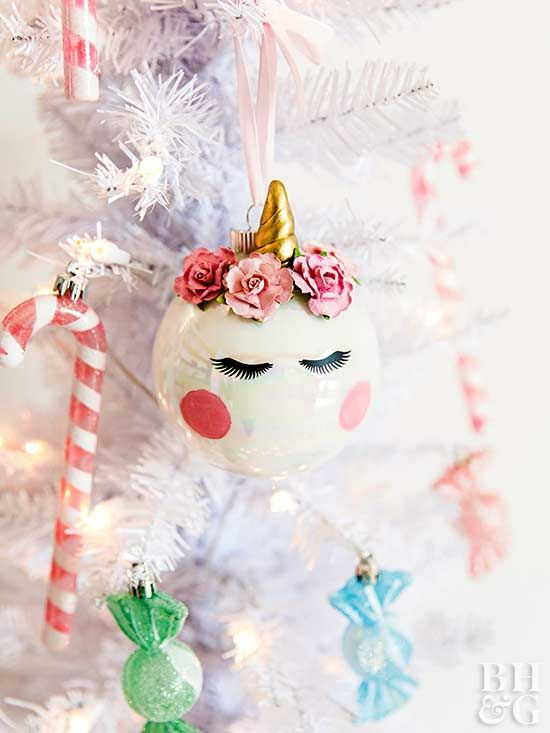 Turn a plain glass ball ornament into a magical work of art!