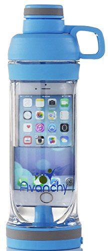 Avanchy Sports, Gym, Crossfit, Yoga, Water Bottle. BPA Free Tritan, iPhone 6 or ...