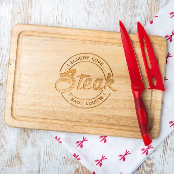 I Bloody Love Steak Serving/Chopping Board