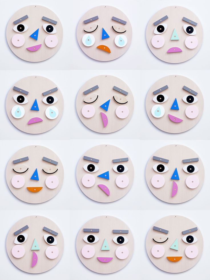 Make A Face! Turn & flip the wooden face pieces to express your emotion! A wonde...
