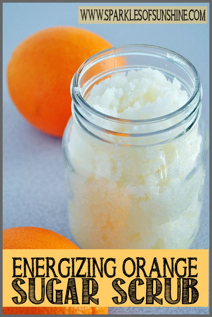 Check out this energizing orange sugar scrub recipe at Sparkles of Sunshine. Kee...