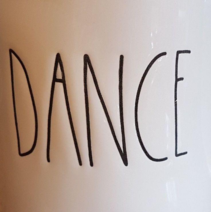 Love to dance? Rae Dunn DANCE Coffee Mug Black & White Big Letters NEW. #dancing...
