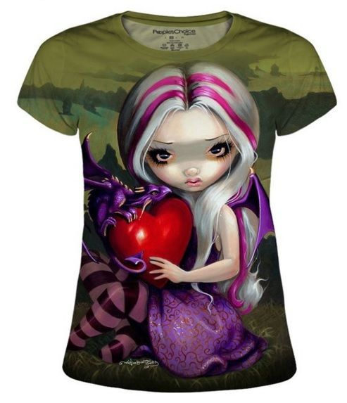 LOVELY. Jasmine Becket-Griffith Dragon Valentine's Day t-shirts.  #hearts