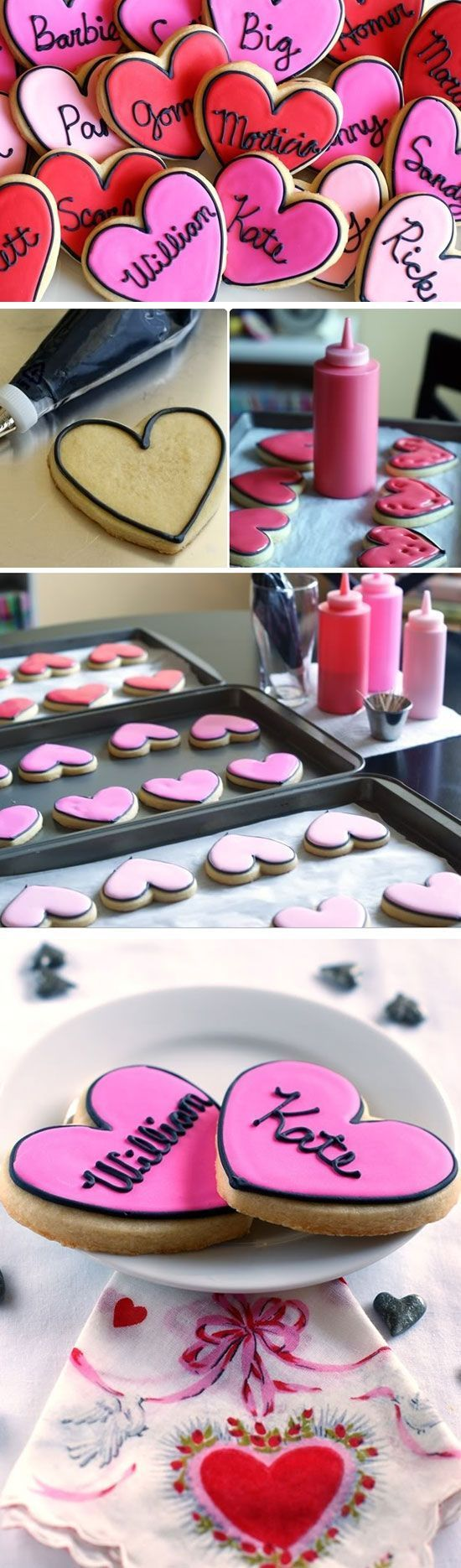 Love Story Cookies   DIY Valentines Day Cookies for Kids to Make (Valentins Day ...