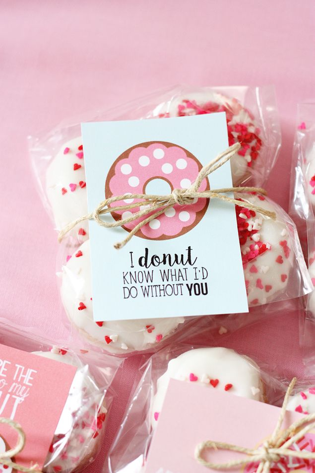 Valentines Day Gifts Valentine Donut Printables So Sweet Makes