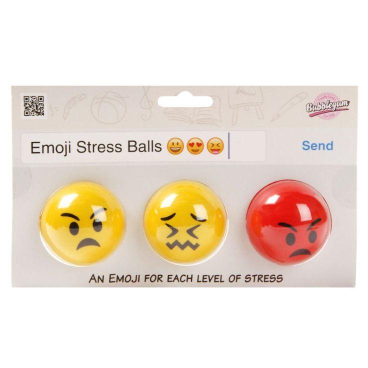 Emoji stress balls - set of 3