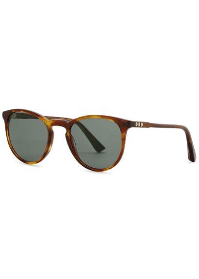 George Arthur brown round-frame sunglasses