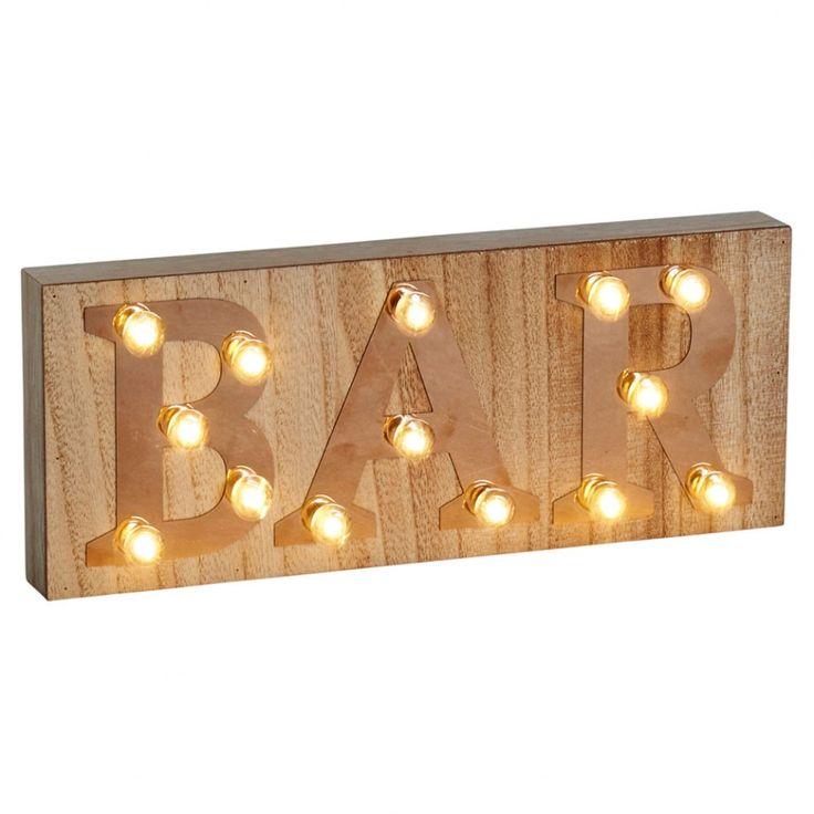 Retro illuminated bar sign