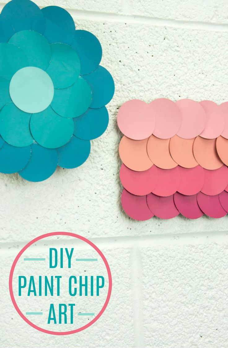 TheseDIY Paint Chip Wall Art ideas are great for your room or dorm and make gr...