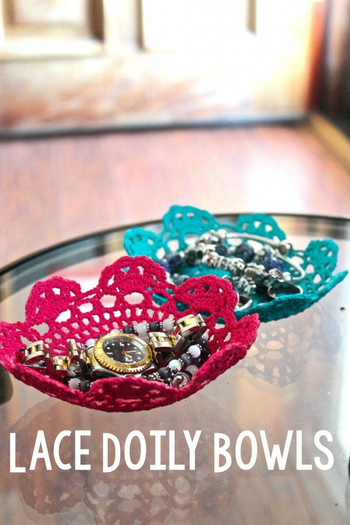 Today I'm going to share with you a fun DIYLace Doily Bowl tutorial that I c...