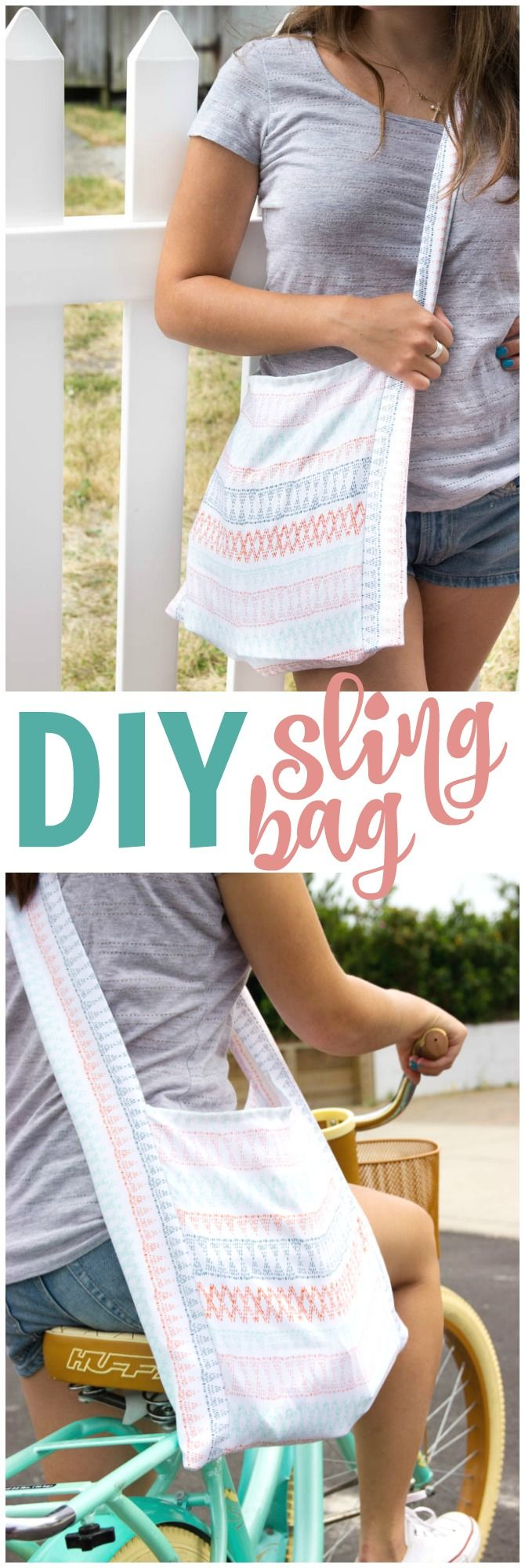 I'm going to share with you how to sew a DIY sling bag that will  be perfect f...