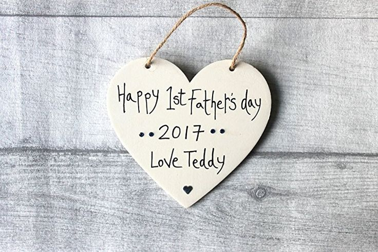 Birthday Gifts MadeAt94 Personalized Wooden 1st Fathers Day Sign