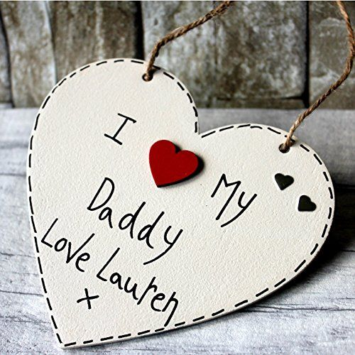 MadeAt94 Personalized Wooden Sign Daddy Gift from Son Daughter Sign Father's...