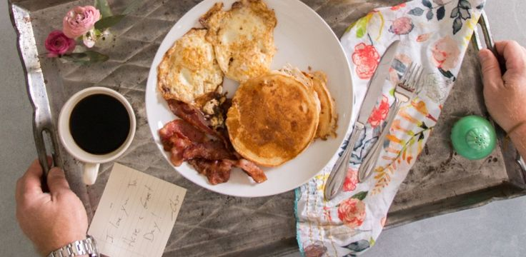Breakfast in Bed - great gift idea for a mom you know! See Chip's b'fast...